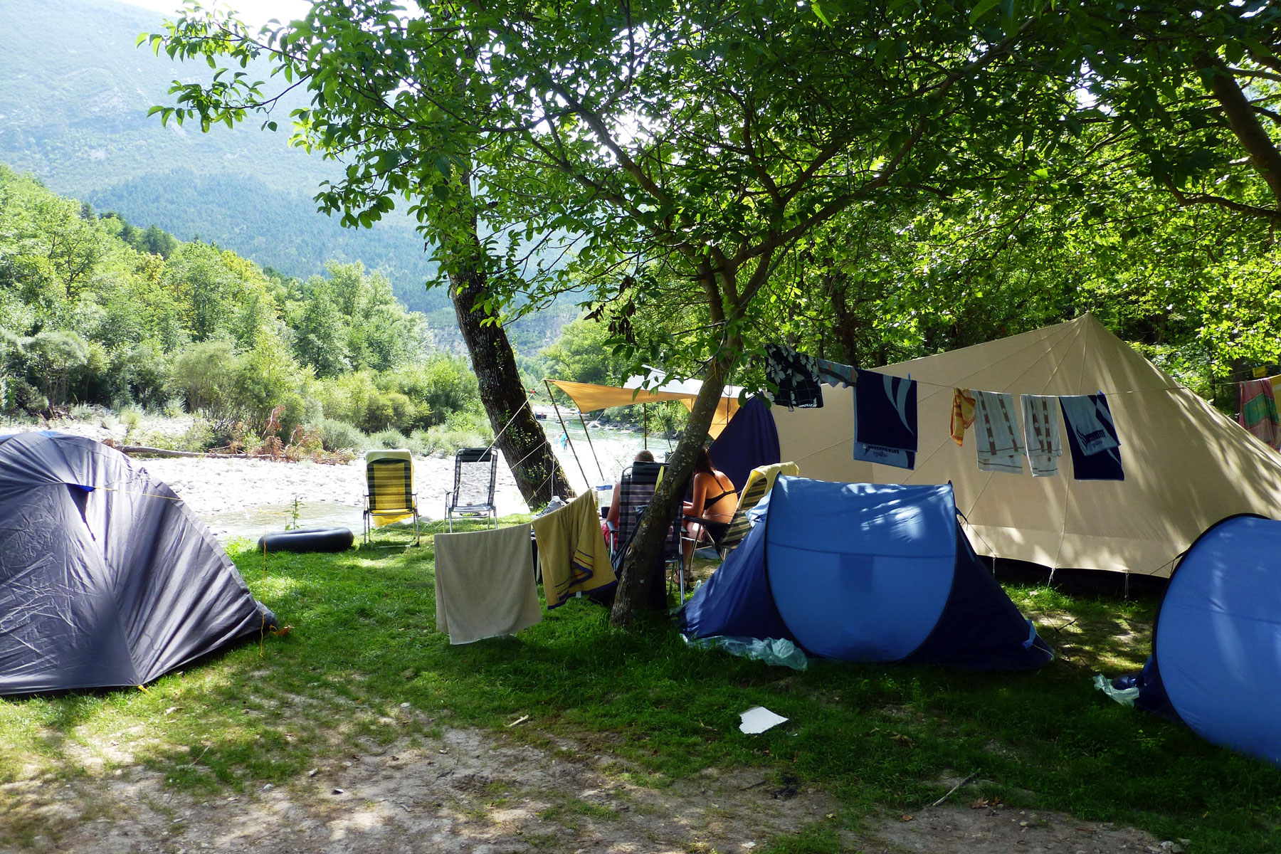 familly campsite in the verdon domaine chasteuil provence