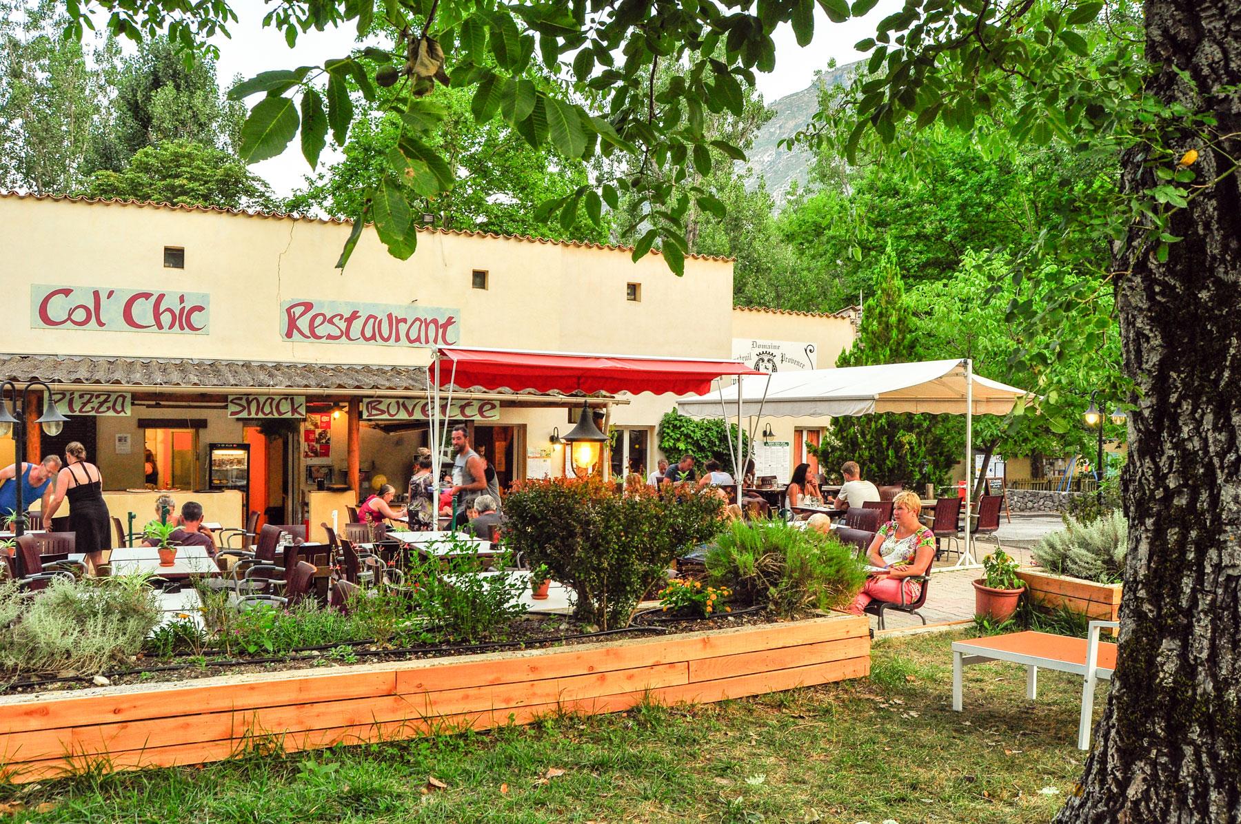 Campsite with restaurant Gorges du Verdon